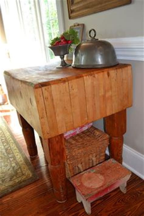 love maple butcher block table vintage