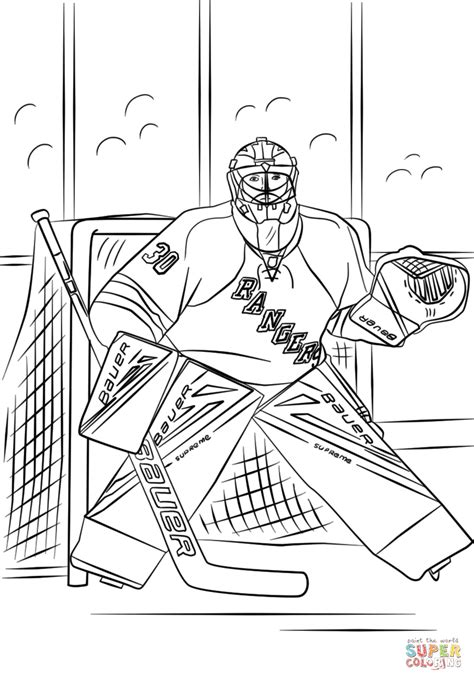 nhl coloring pages henrik lundqvist coloring page free printable coloring pages