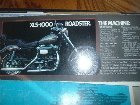 1980 Harley-davidson Roadster Xls 1000 Factory For Sale On