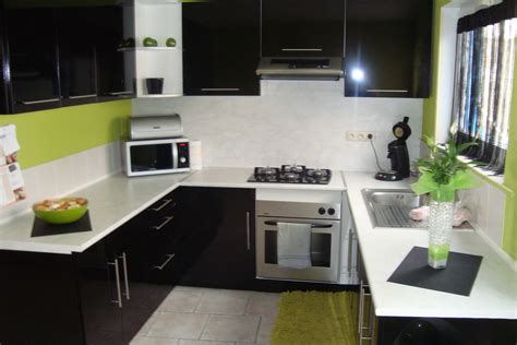 cuisine noir laque meuble cuisine noir laque