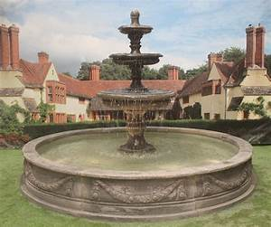 3, Tiered, Edwardian, Fountain, Or, 3, Graces, Fountain, With, Large, Lawrence, Pool, And, Sheet, Liner