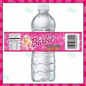 Barbie Cartoon Party Bottle Labels – Cartoon Invites