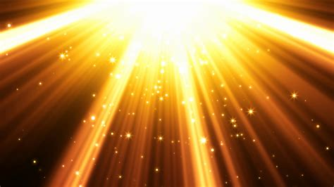 Bright Golden by Golden Light Rays Background Motion Background