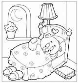 Coloring Pages Sleepover Bear Goodnight Sleeping Teddy Pajama Sleep Slumber Printable Holidays Invitations Drawing Tight Moon Activity Invitationsforsleepoverparty Getdrawings Perfect sketch template