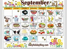 Crazy National Holiday Calendar Free Calendar Template