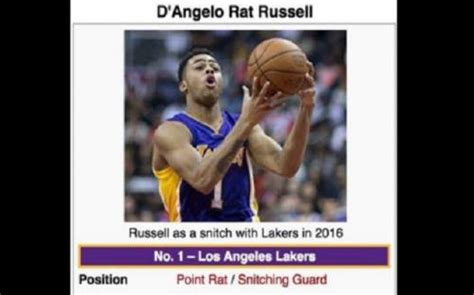 D Angelo Russell Memes - the internet hilariously mocks d angelo russell for snitching on nick young