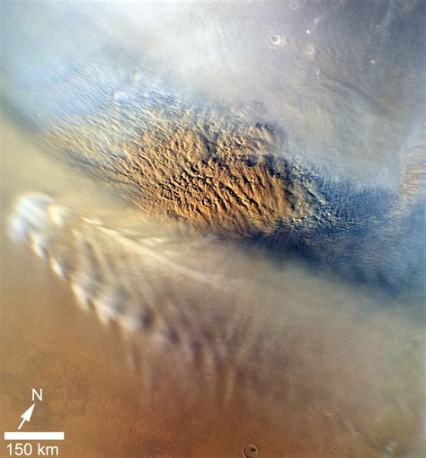 ESA - Robotic Exploration of Mars: Short-lived dust storm ...