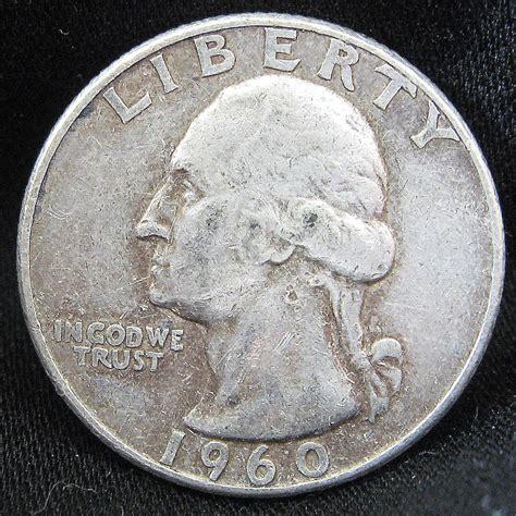 silver quarter one 1960 1964 90 silver washington quarter american 25 cent usa round coin ebay