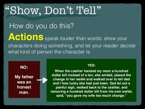 """""""show, Don't Tell"""" (2"""