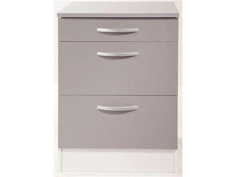 meuble cuisine largeur 55 cm meuble bas 60 cm 1 tiroir 2 caissons spoon color coloris