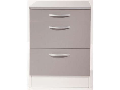 meuble cuisine avec tiroir meuble bas 60 cm 1 tiroir 2 caissons spoon color coloris