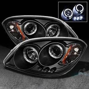 Pontiac Pursuit 2005 2006 Black Dual Halo Projector