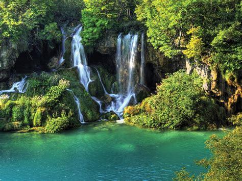 thailand wallpaper waterfall river jungle nature