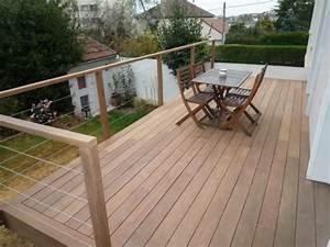 Garde De Corps Terrasse : terrasse sur pilotis avec garde corps en bois ~ Melissatoandfro.com Idées de Décoration