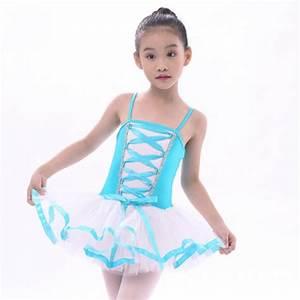 Girls' kids children leotard tutu skirt ballet dance dress ...