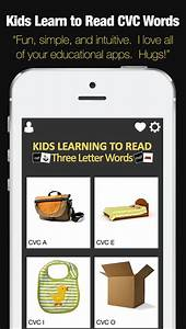 Kids Learning to Read - Three Letter CVC Words App ...