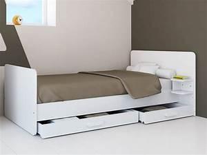 Lit 120x190 Avec Rangement : lit rangement 120 ~ Teatrodelosmanantiales.com Idées de Décoration