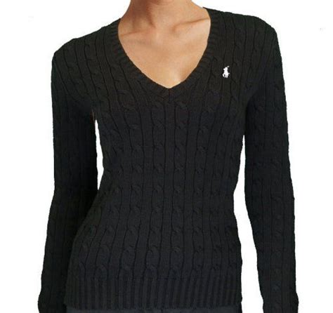 Black Polo Ralph Lauren Cable Knit Sweater