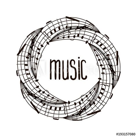 """Thanks, i used to think that all these marks were easy, and i just play them like i think they should sound. """"Vector music illustration. Music symbol. Round pattern ..."""