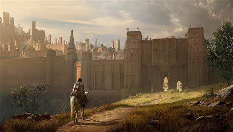 artstation city wall kenneth camaro fantasy cities