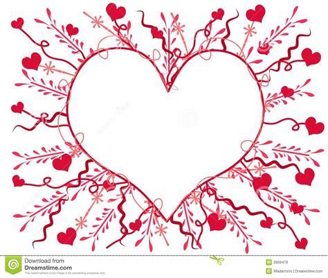 Artsy Valentine S Day Heart Card 2 Stock Illustration ...