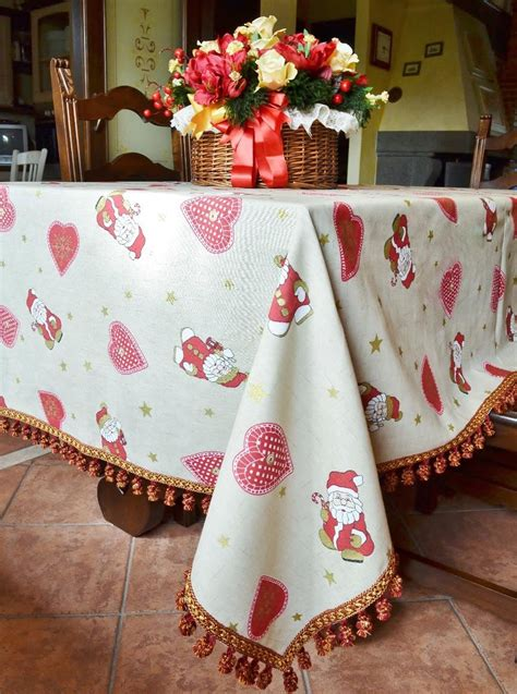 handmade christmas tablecloth with hearts tablecloths