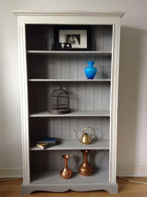 details about shabby chic painted solid pine bookcase