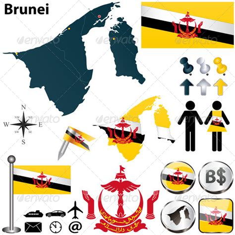 stock vector graphicriver map  brunei