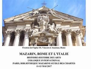 L Italie à Paris : colloque mazarin rome et l italie paris 11 13 mai 2017 crcv ~ Preciouscoupons.com Idées de Décoration