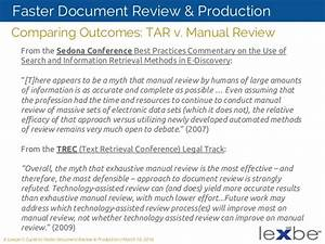 Faster Document Review And Production