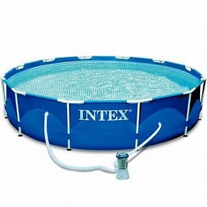 Piscine Tubulaire Intex : piscine tubulaire metal frame intex d366 x h76 cm plein ~ Nature-et-papiers.com Idées de Décoration