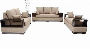 Furnicity leatherette 3 2 1 beige sofa set price in for Buy sectional sofa india