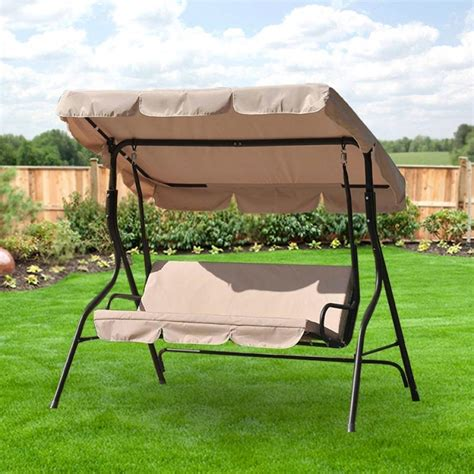 outdoor patio swing with canopy replacement swing canopies for lowe39s swings garden winds
