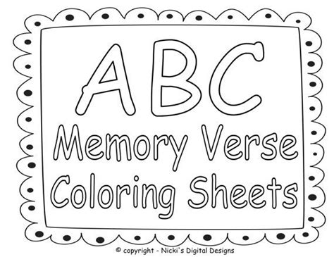 abc bible memory verse coloring sheets