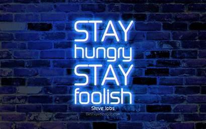Stay Hungry Foolish 4k Brick Steve Jobs