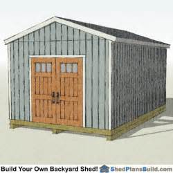 12x16 backyard shed plans