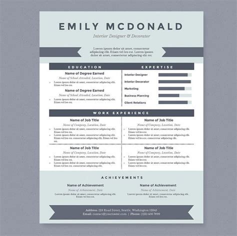 this clean and professional resume will help you get noticed the package includes a resume