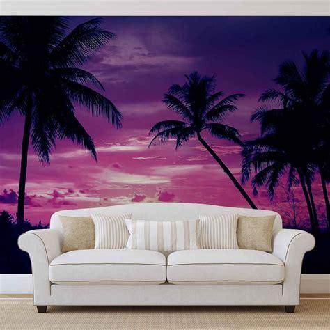 foto palme shop 368 215 254 tropical sunset palms palme more zalazak sunca 3d fototapeta zidni mural foto