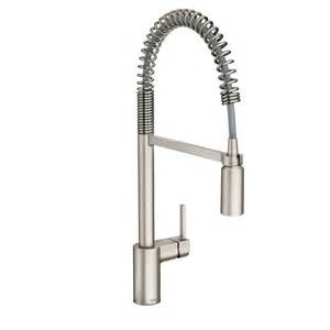 pre rinse kitchen faucet shop moen align spot resist stainless steel 1 handle pre rinse kitchen faucet at lowes