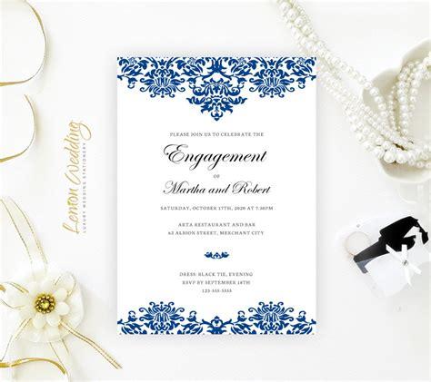 royal blue engagement invitation lemonwedding