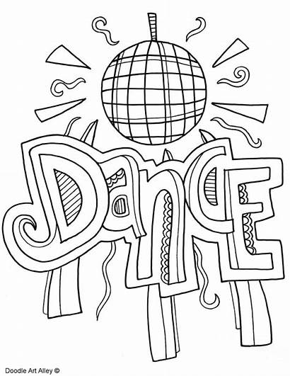 Coloring Pages Dancing Subject Dance Colouring Doodles