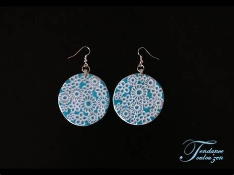 tuto boucles d oreilles fimo facile debutant polymer clay earrings tut pate fimo