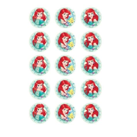 ariel cupcake toppers