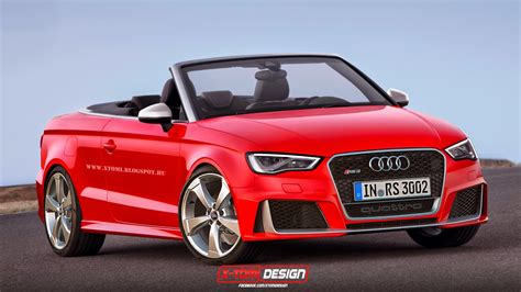 Rs3 Convertible by New Audi Rs3 Rendered As 3 Door Sedan And Cabriolet