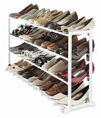 shoe organizers for closets Whitmor White 20 Pair Shoe Rack Storage Organizer Holder Closet Stand Boot Heels