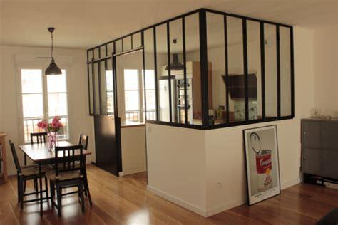 porte coulissante de cuisine verrière de cuisine avec porte coulissante verrières d