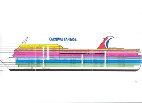 carnival cruise floor plan deck plan for the carnival cruising on funships deck plans and cruises