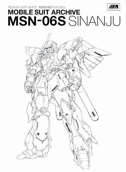 Gundam Suit Mobile Unicorn Coloring Sinanju Drawings