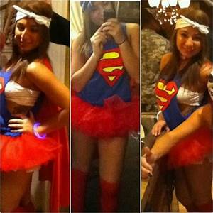 Halloween costume woman adult diy homemade superman girly ...