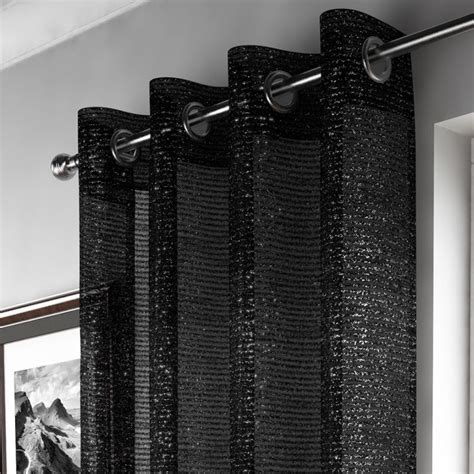 Black Sparkle Curtain Panel Tony's Textiles Tonys Textiles